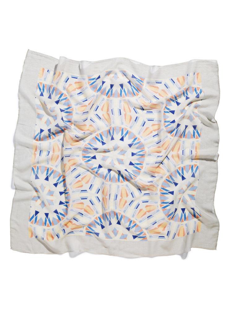 Carousel Fade Print Silk Cashmere Scarf