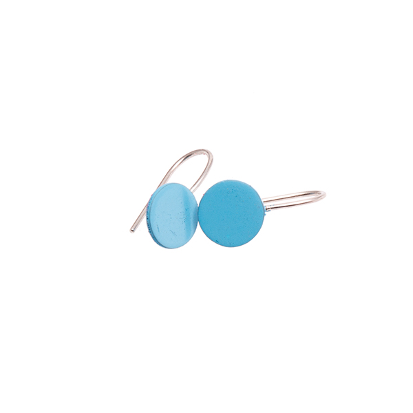 Sian Evans - Blue Circle Earrings