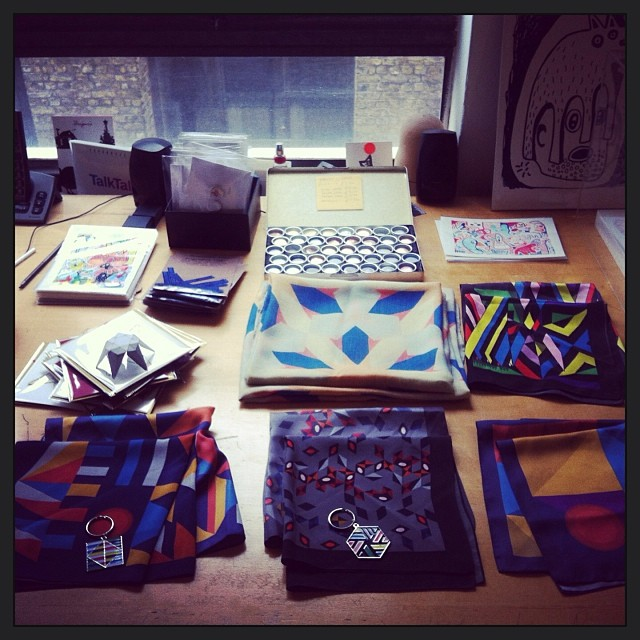 #regram David David #scarves and @sianevansjewellery badges at our #christmas shopping event.