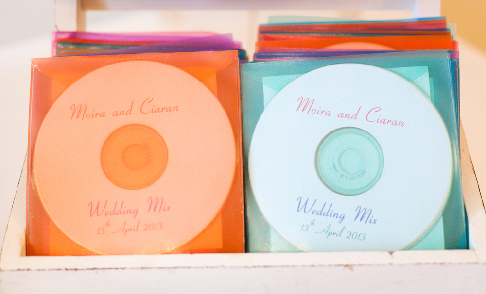 wedding favor's, a CD compilation wedding favor