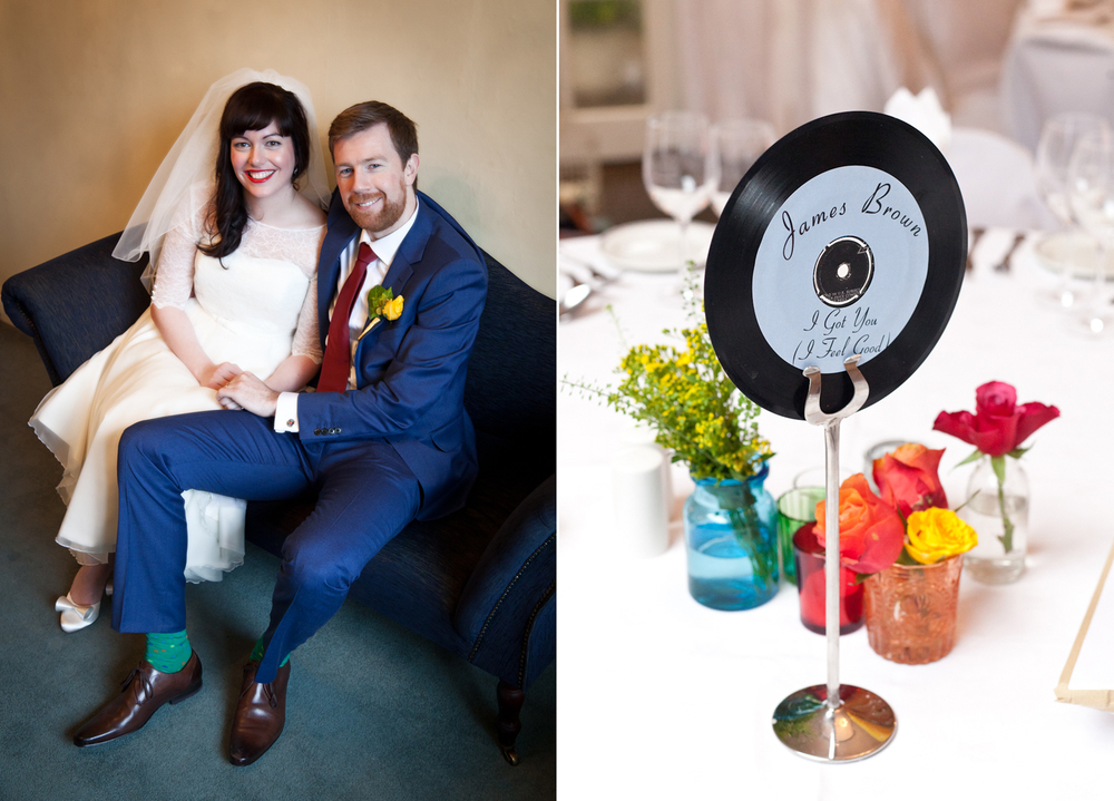 Vinyl records as table names, vinyl single records to name the tables