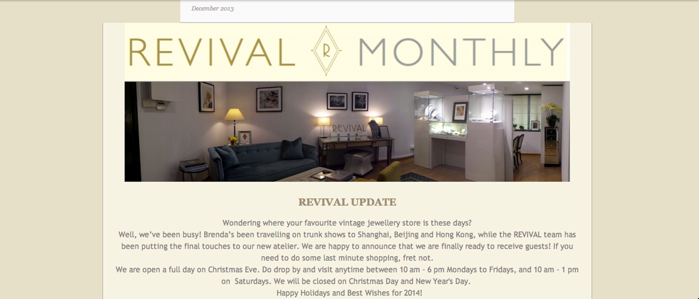 Click to be linked to Revival's December Newsletter