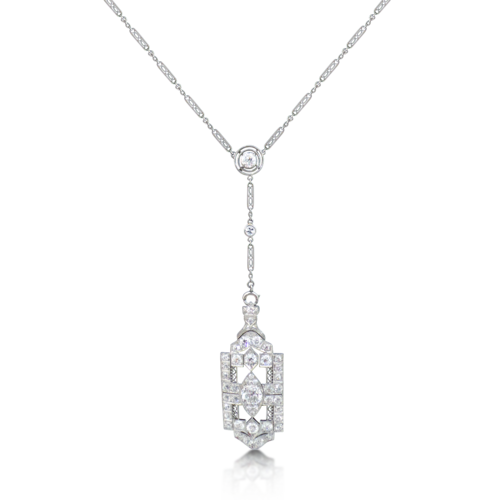 An art deco style diamond pendant necklace sold revival jewels an art deco style diamond pendant necklace sold audiocablefo
