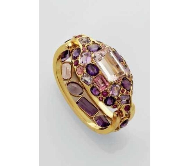An Amethyst, Kunzite, Tourmaline Bracelet, by Suzanne Belperron