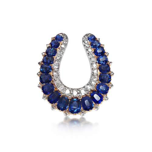 An antique sapphire and diamond horseshoe pendant sold revival an antique sapphire and diamond horseshoe pendant sold aloadofball Image collections