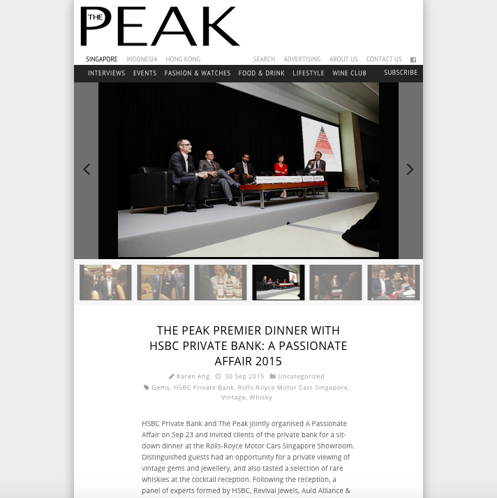 the peak sept 2015