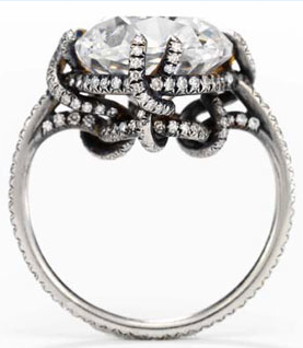 JAR Thread Ring, set with a 10.12-carat Old Mine Cut diamond, formerly owned by Ellen Barkin