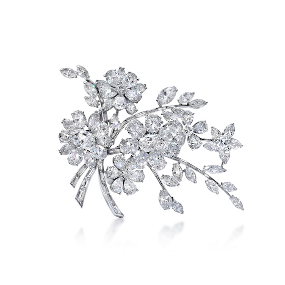 Bulgari Floral Spray Tremblant Brooch