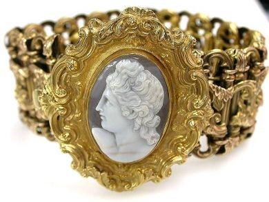 A Victorian Era cameo bracelet.