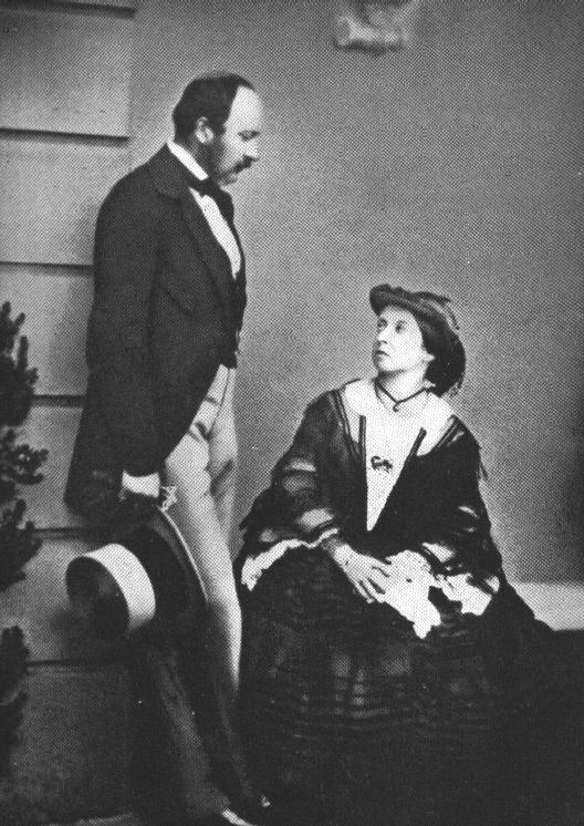 A picture of Queen Victoria and Prince Albert in 1860.
