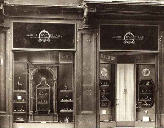 His first boutique on Largo Santa Margherita in Milan, opened in 1919.