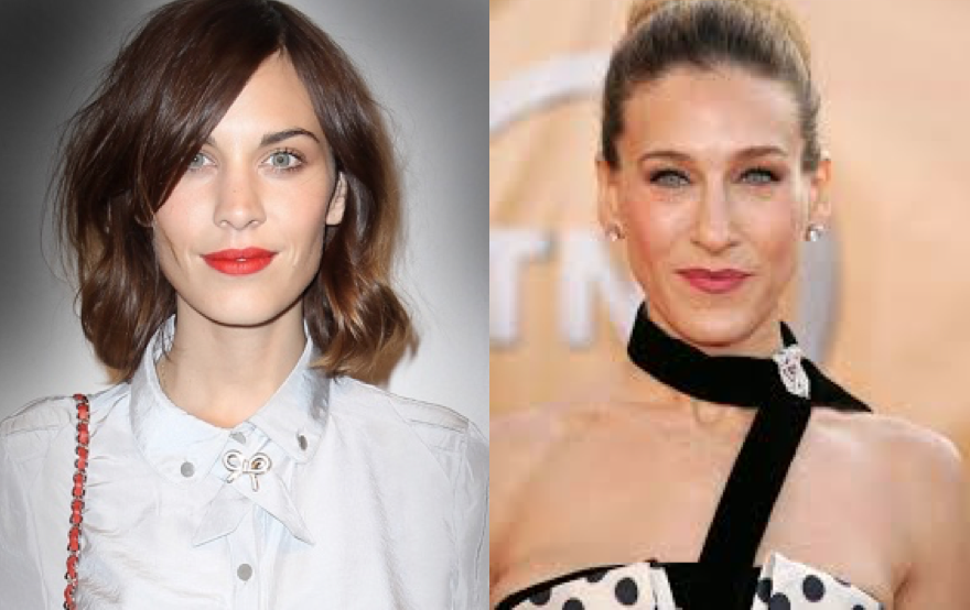 Alexa Chung (left) and Sarah Jessica Parker (right)