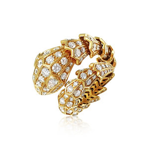 47a329616 A Diamond and Pink Gold 'Serpenti' Ring, by Bulgari