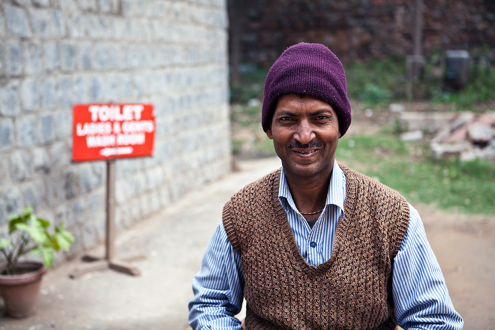The loveliest toilet attendant ever.