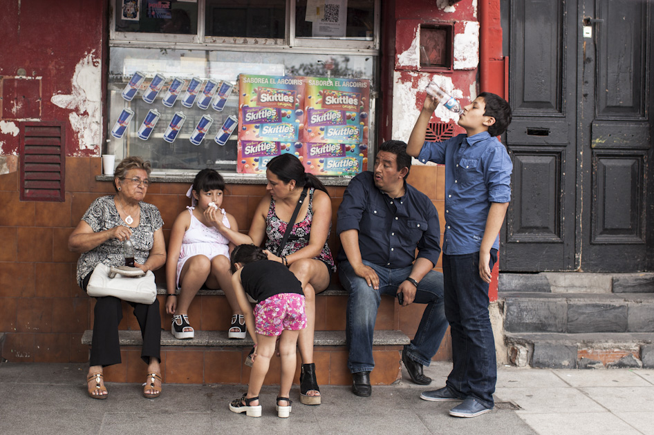 A few minutes earlier this family were quarrelling. This was taken in La Boca.