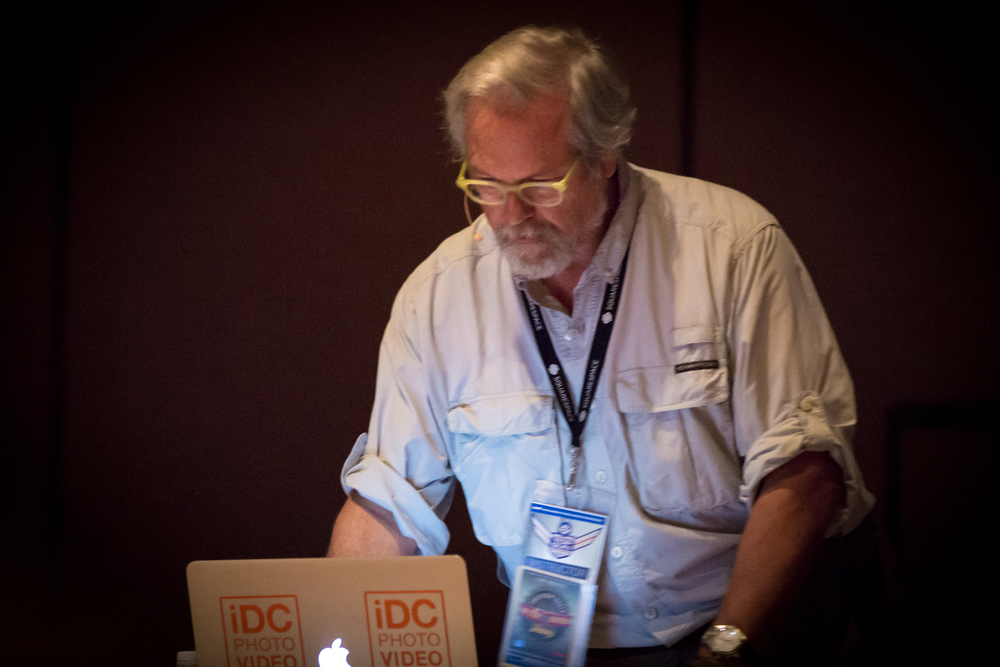 Bruce Dorn lecturing on Cinematic Lighting techniques.