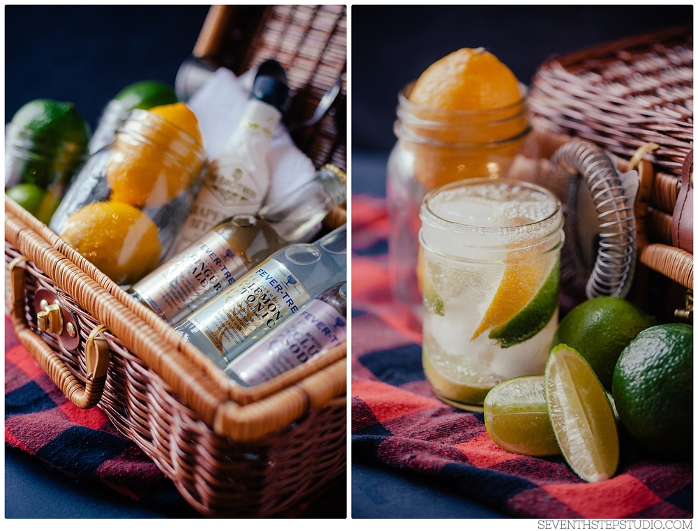 Seventh Step Studio, Signature Cocktails for The Details Wedding Category. Flavored Sodas by Fever-Tree.