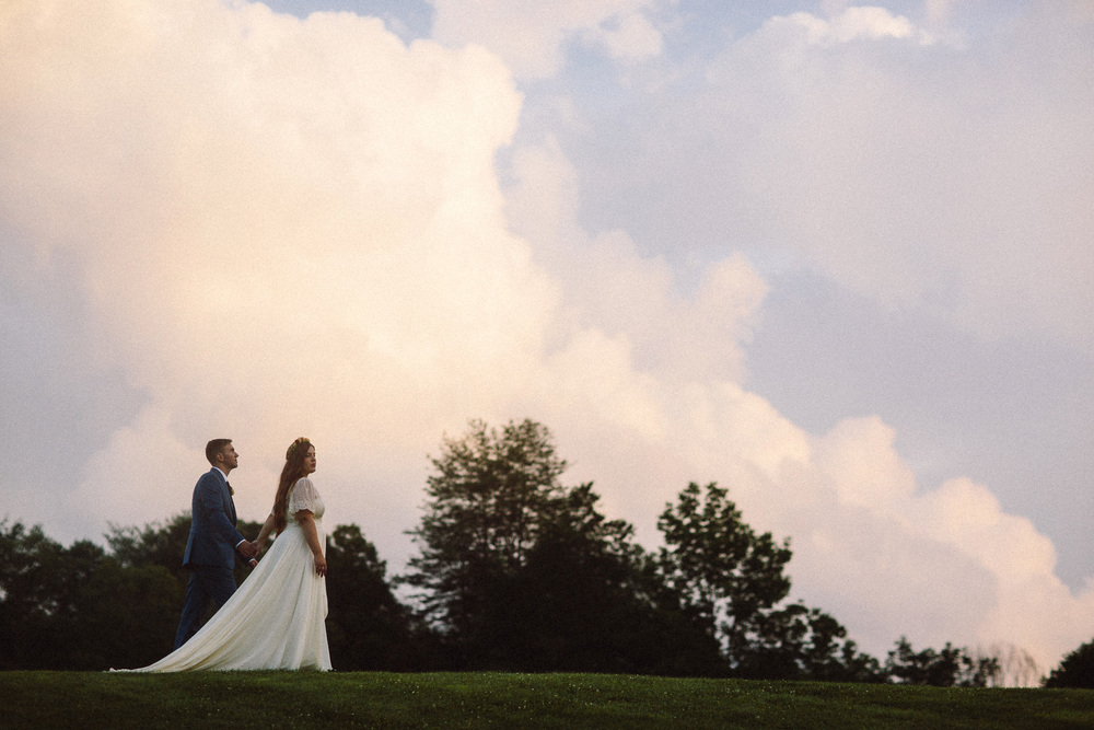 Vermont summer barn wedding engagement and portrait photography by 822 Weddings