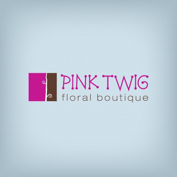 Pink Twig Logo Design