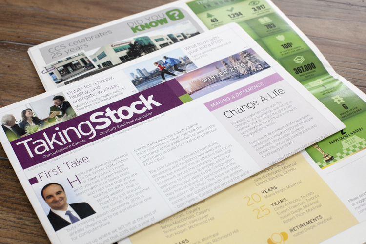 Financial Newsletter Design