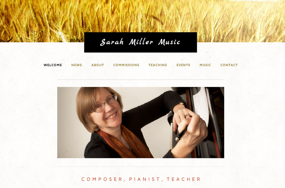 Sarah Miller Music Website