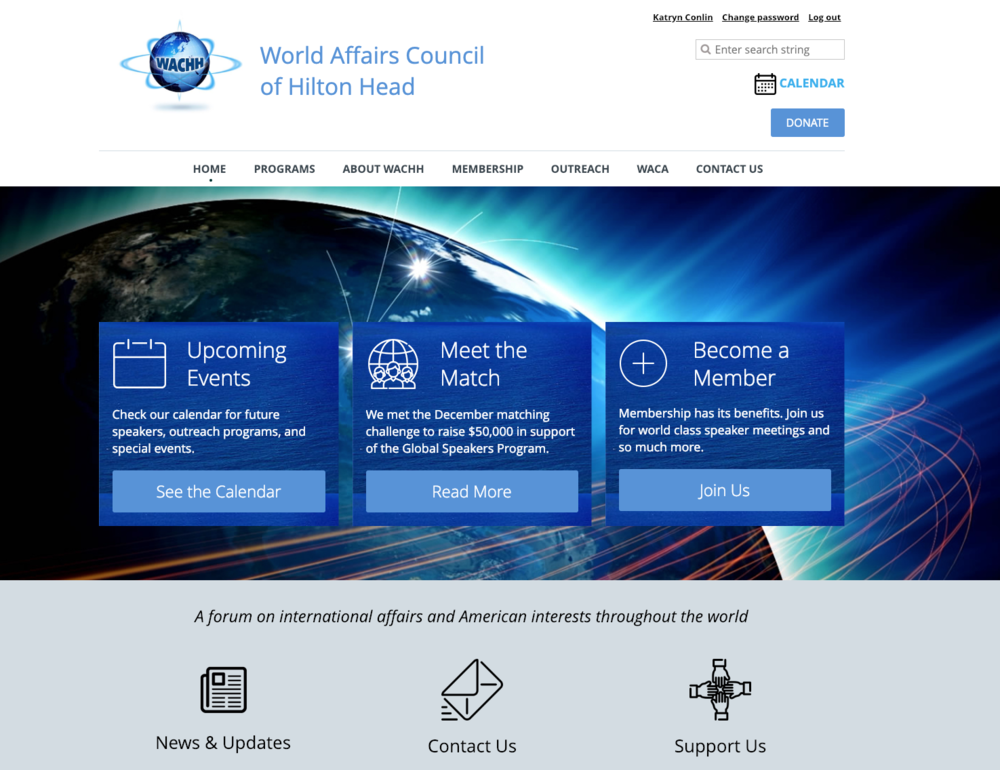World Affairs Council of Hilton Head - website