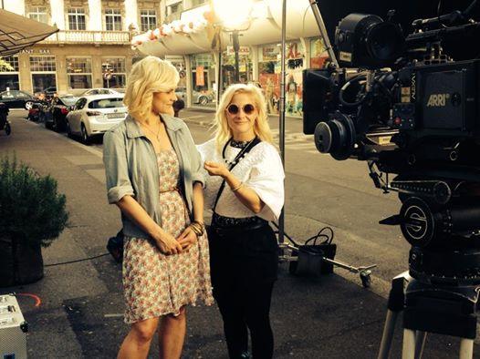 Making of Photo / Madleina bei der Arbeit mit der Schauspielerin Anina Baumgartner / Kamera Daryl Hefti / Produktion Taste Pictures