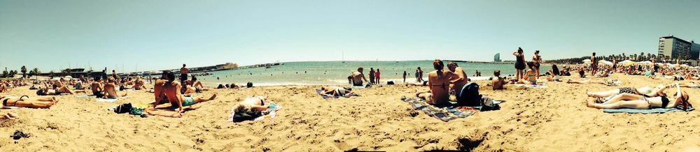 Barcelona Forum Beach-panorama