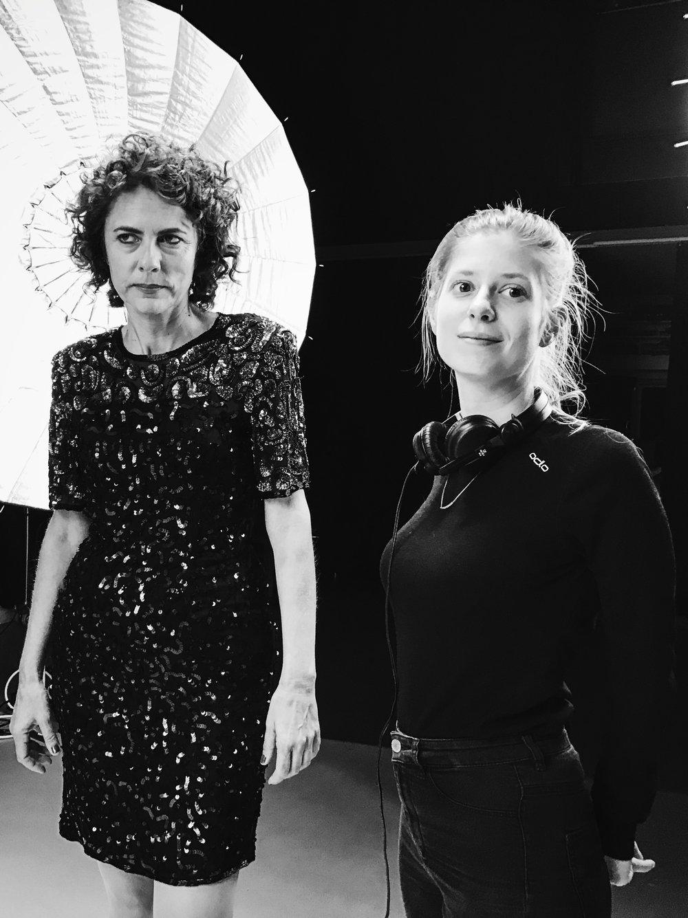 Regisseurin Yasmin Jörg und Hauptdarstellerin Linda