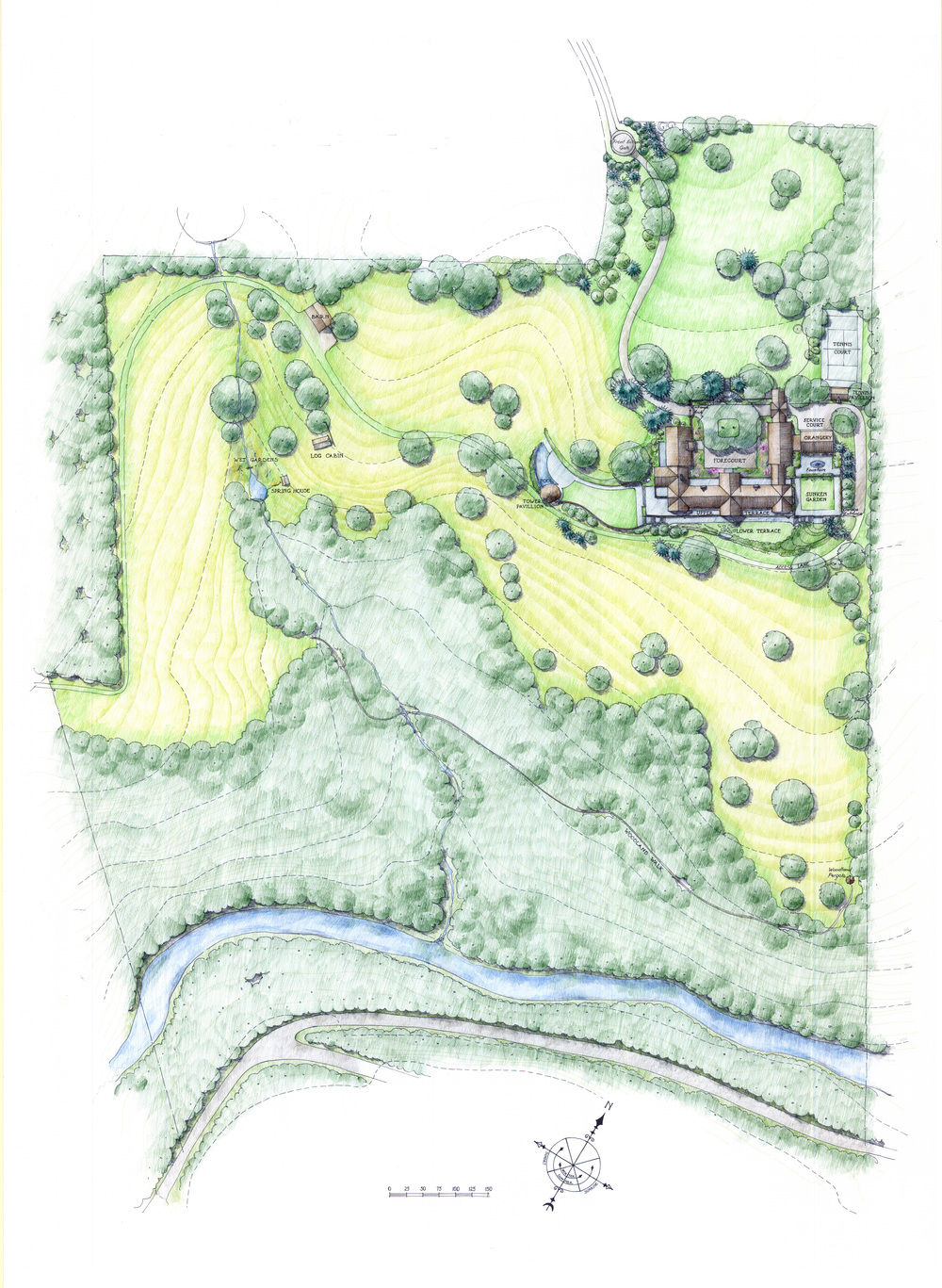 New House, Gladwyne, PA  Site Plan by Carter van Dyke Associates