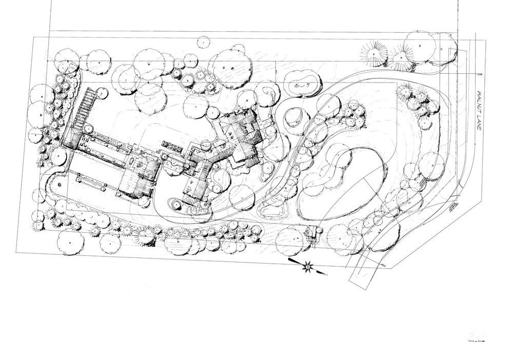 New House, Wayne, PA  Site Plan by Carter van Dyke Associates