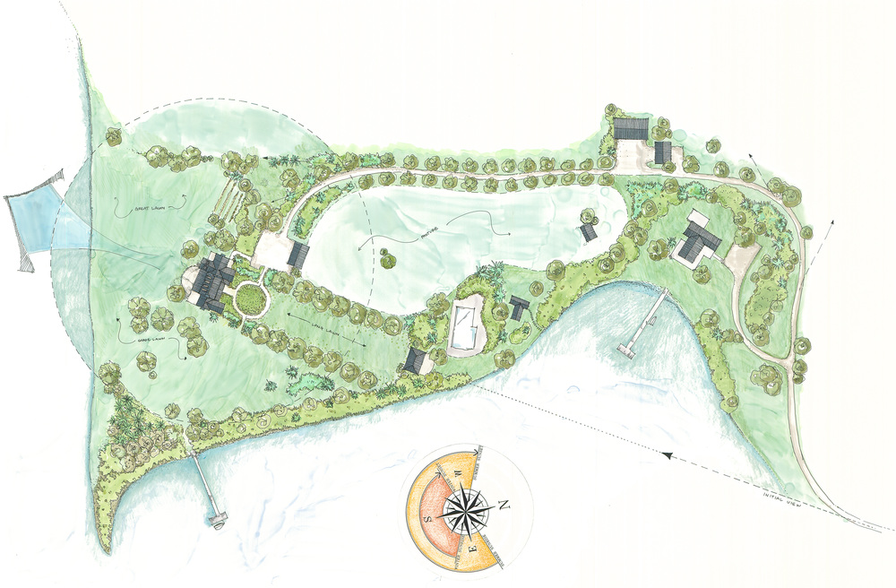 New House, Prince Frederick, MD  Site Plan by Jay Graham Landscape Architecture