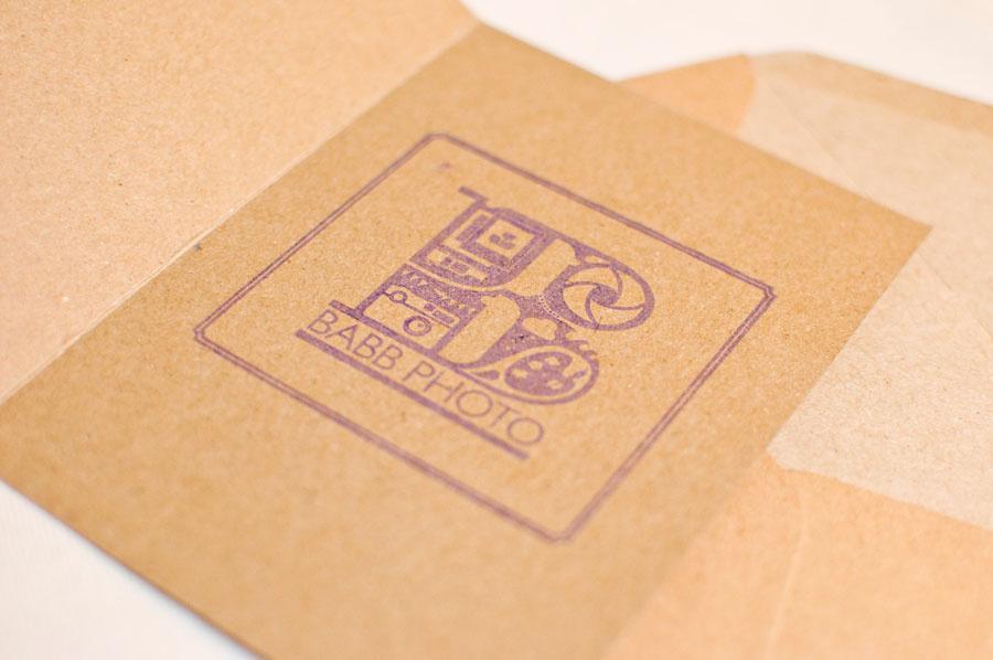 Babb Photo logo ink stamp