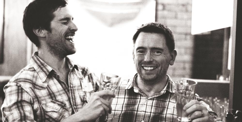 Dan - Left, Joe - Right: Checked Shirt Tastic!      Photo by Hannah Beatrice