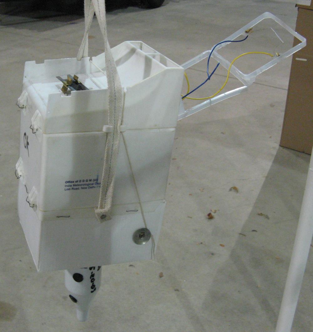 Indian weather balloon analog radio probe.