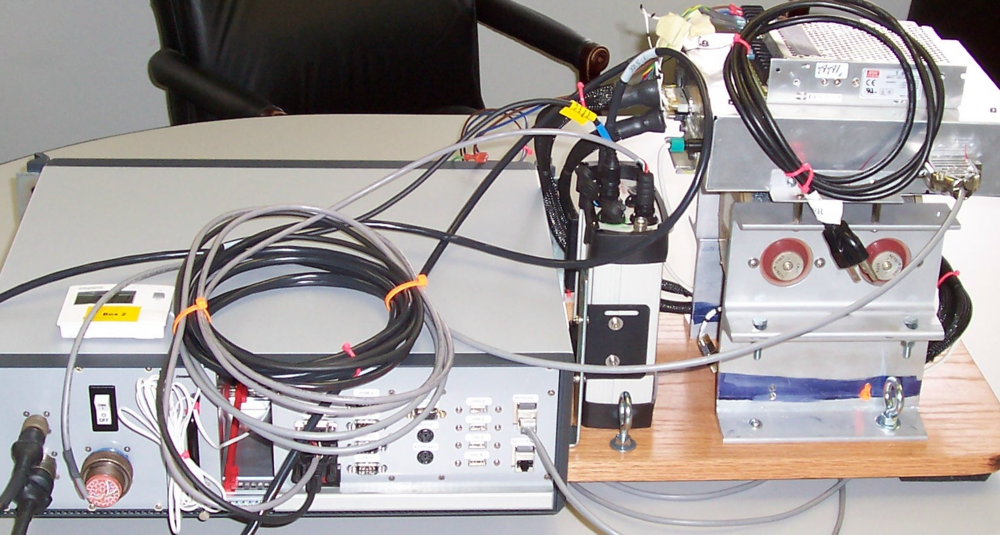 A view of the research system hardware.