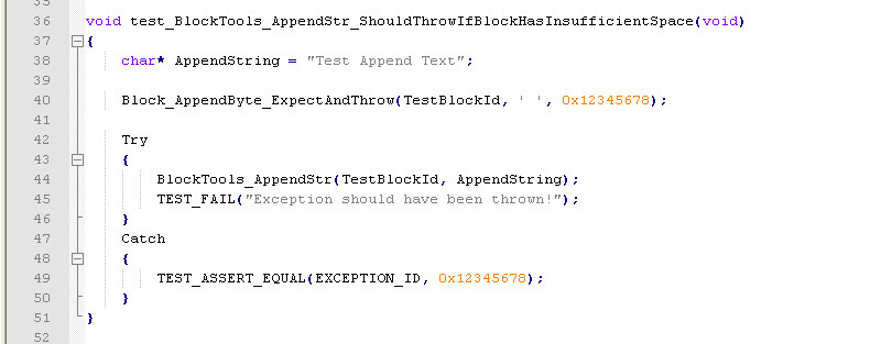 Sample unit test and mock code of sample source above. Note this sample may not reflect conventions of up-to-date tools.