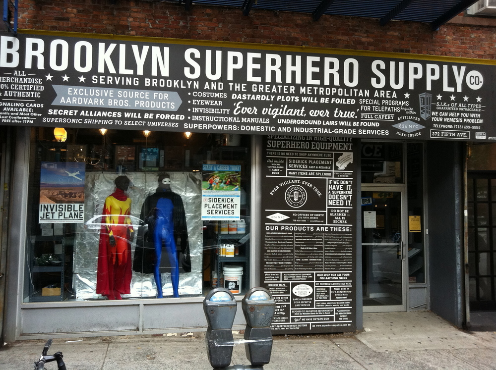 I was devillainized at the Brooklyn Superhero Supply Co.