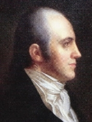 Aaron Burr, third Vice President of the United States [ image source ].