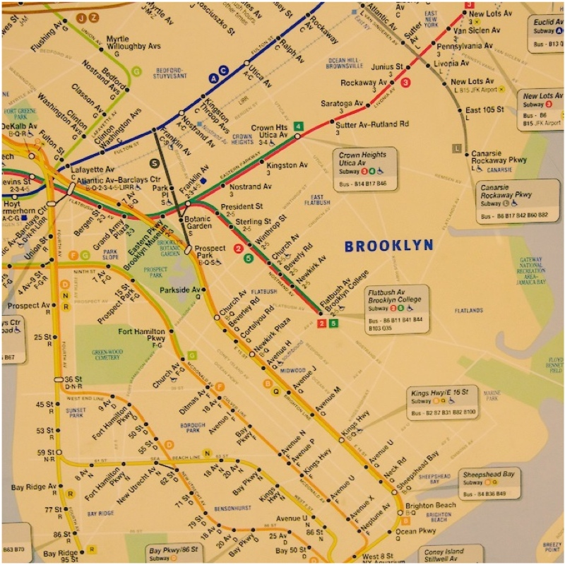 NYC Day 2 - Brooklyn Subway Map