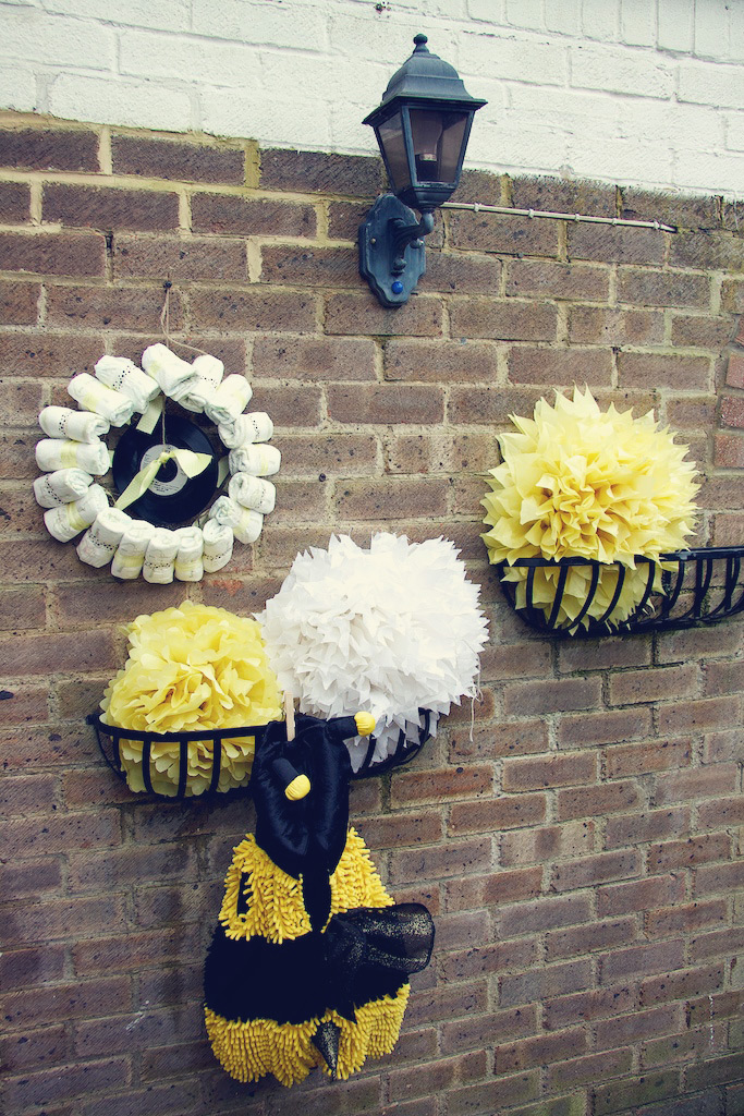 DIY Nappy Wreath