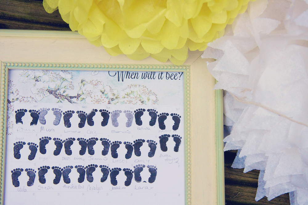 Date Stamp Baby Shower Game