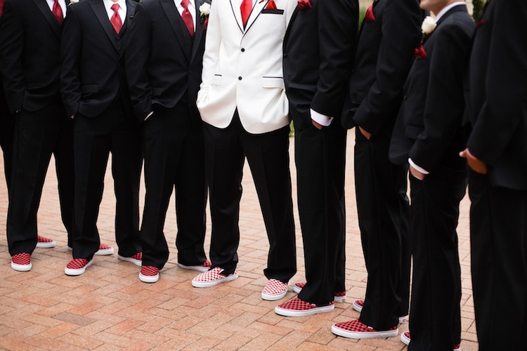 Red White And Black Wedding Shoes