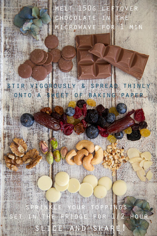 how to make chocolate bark
