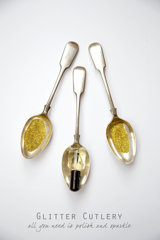 DIY Glitter Cutlery