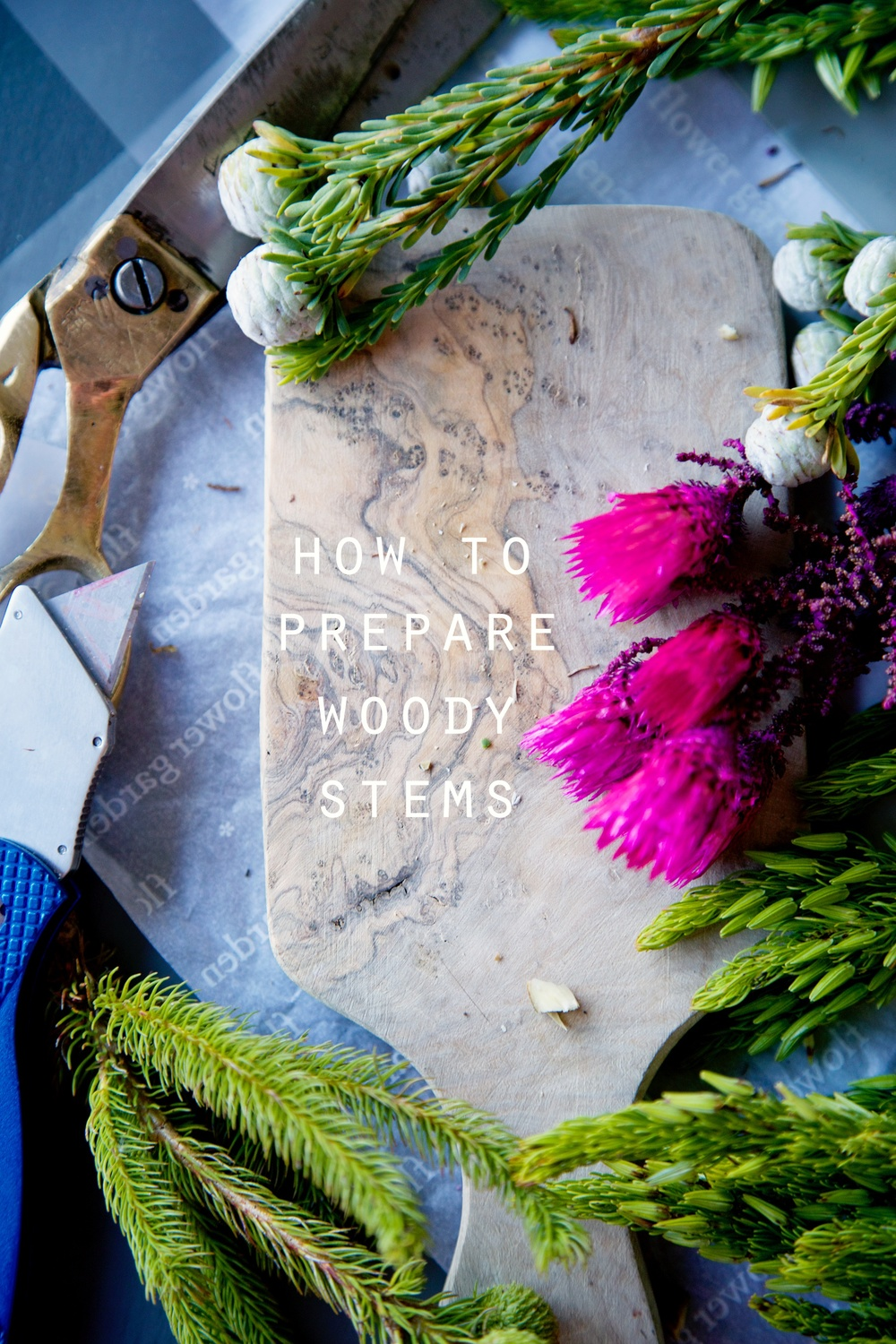 How to prepare flowers