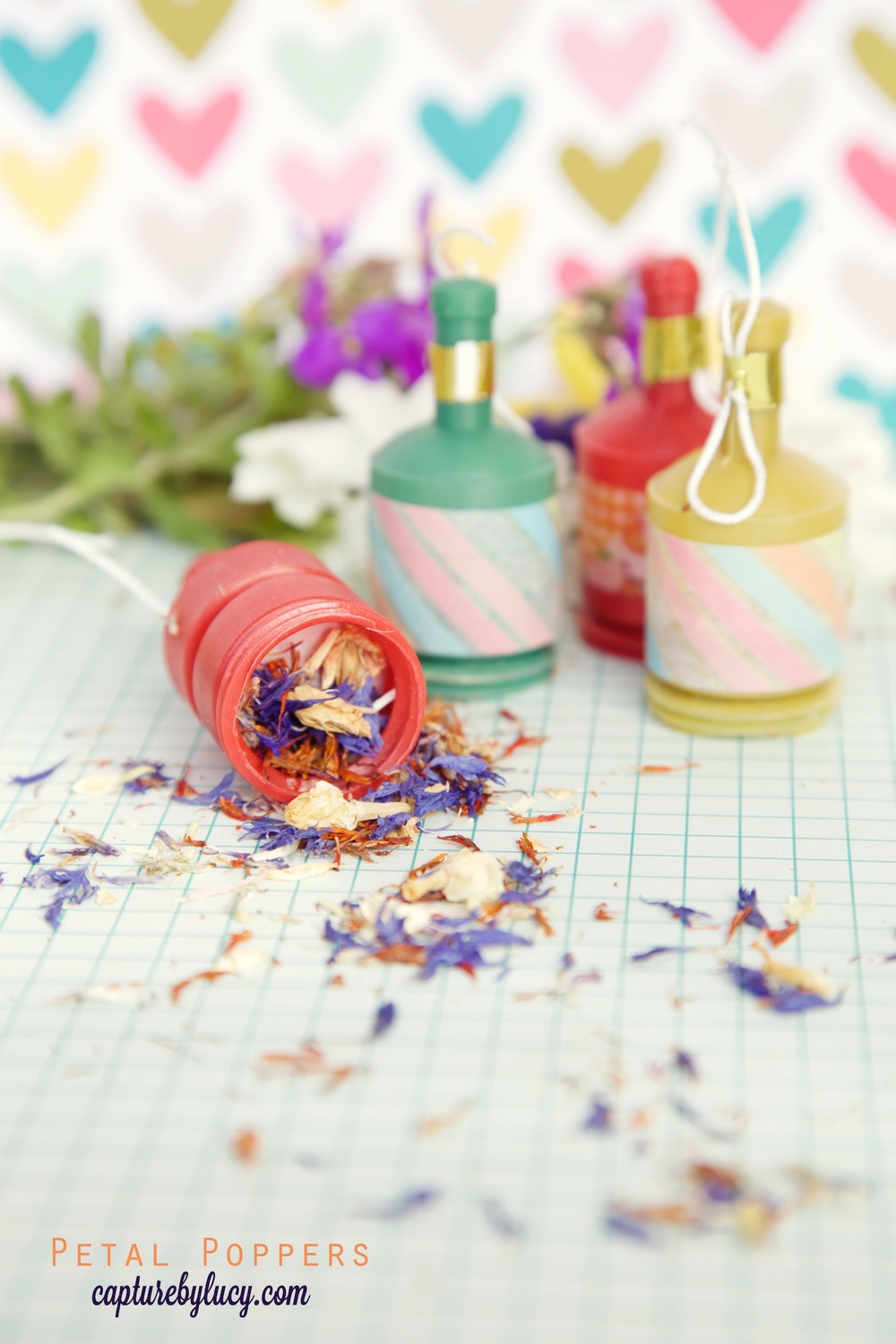 Real Petal Confetti Party Poppers
