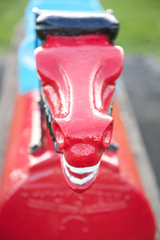 Vintage playground horse