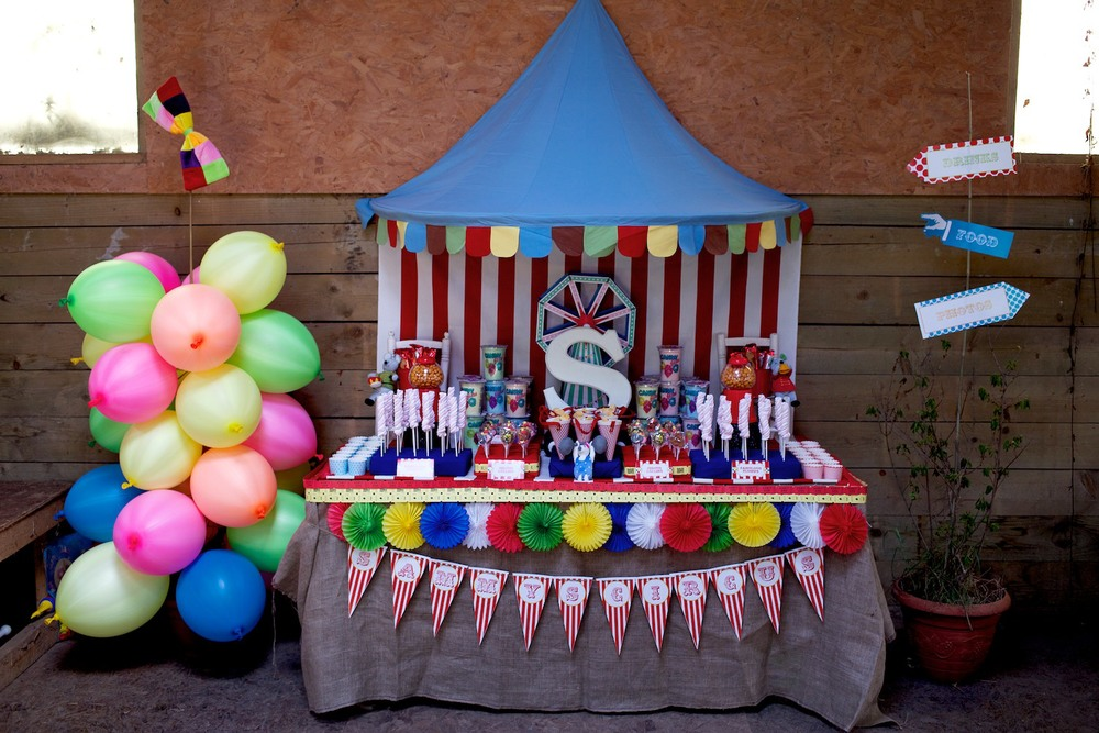 Circus Party Food Table
