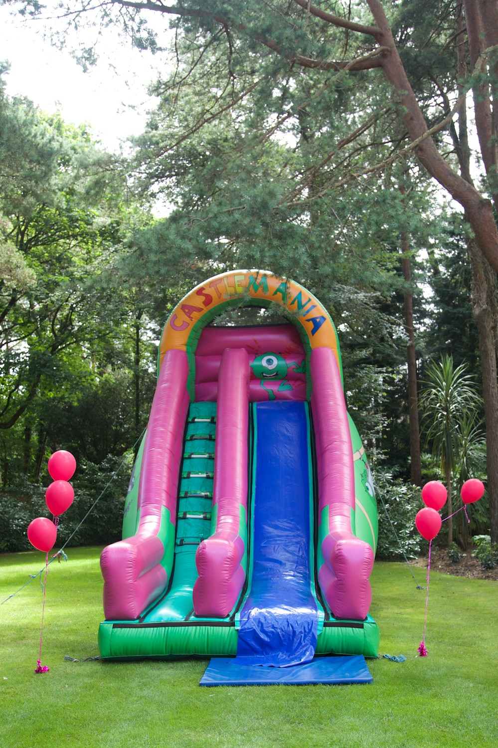 Pink bouncy castle